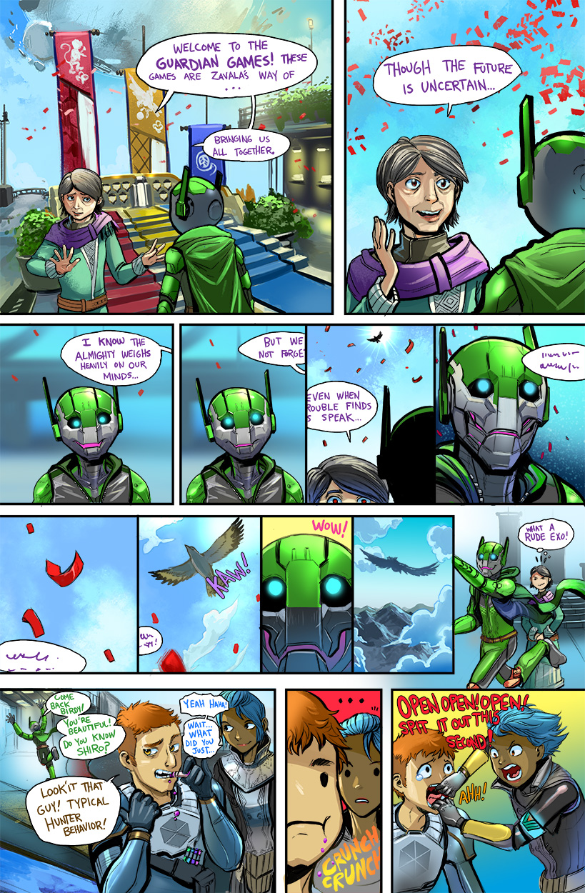 Exotic Watermelon Exo A Comic About A Robot Trying To Make It In The World Of Destiny